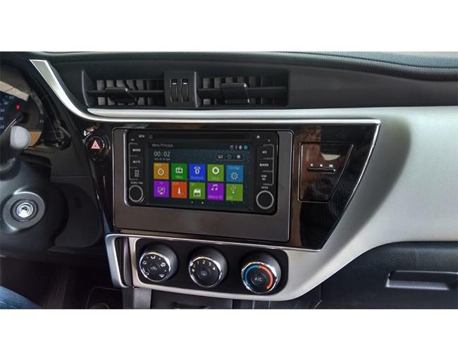 Central Multimidia Toyota Corolla 2018 GLI - S/ SOM ORIGINAL (Led Azul)