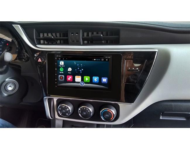 Central Multimidia Android Toyota Corolla 2018 GLI (Multimidia + Moldura)