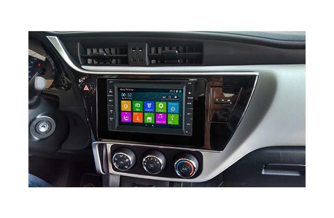 Central Multimidia Toyota Corolla 2018 GLI (Multimidia + Moldura)