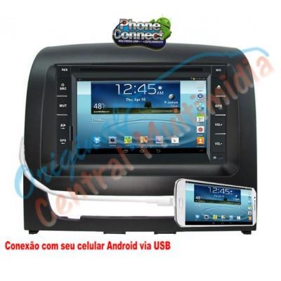 Central Multimidia Fiat Idea 2013 2014 (Universal + Moldura Preta) - Audio System
